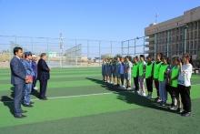 Мусобиқаи футболи хурд байни донишҷӯ духтарони вилояти Суғд