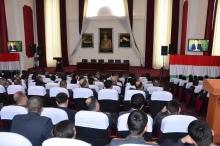 Коллективный просмотр документального фильма «Марди рох» в Академии МВД Республики Таджикистан