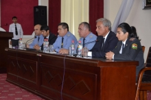 Schoolchildren visiting the Academy of the Ministry of Internal Affairs