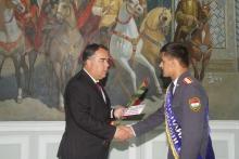 Церемония награждения курсантов факультета №4 Академии МВД Республики Таджикистан стипендией Председателя Согдийской области
