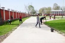 Общий субботник в Академии МВД Республики Таджикистан